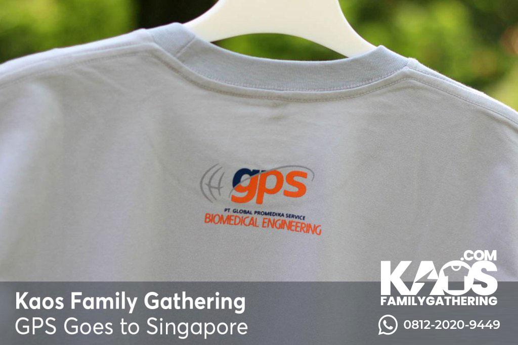 Desain Kaos Family Gathering Global Promedika Service Goes To Singapura